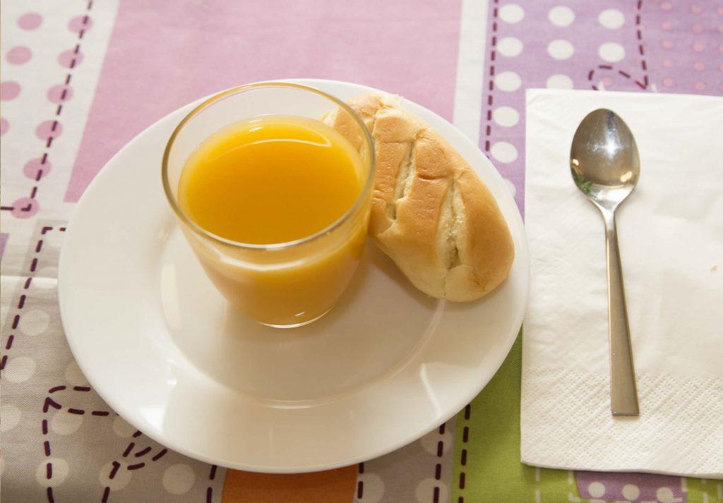 Desayunos en el centro de día